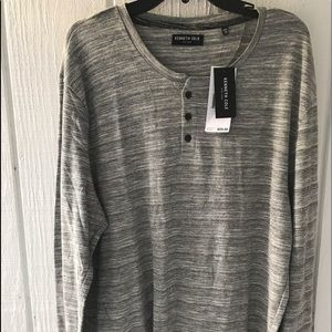Kenneth Cole cotton long sleeve Henley NWT